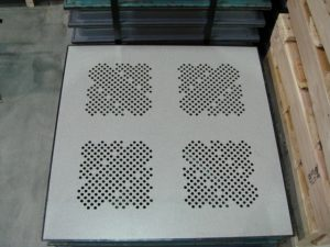 Perforated Flooring tiles - Grey Matrix