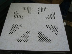 Perforated Flooring Tiles – Beige Starlight
