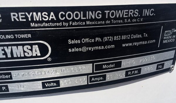 184 Ton Reymsa Cooling Tower