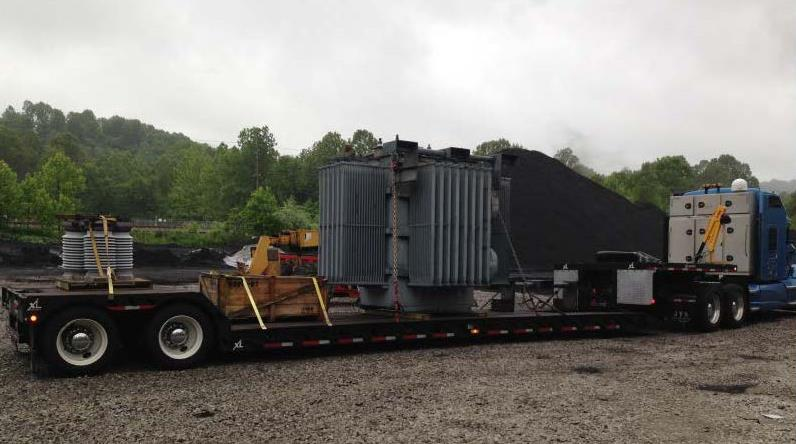 calgon carbon transformers on a truck